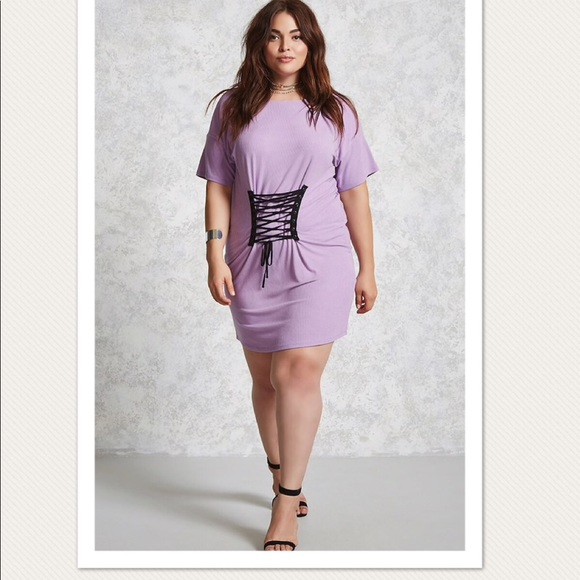 Forever21 lavender plus size dress in size 0x